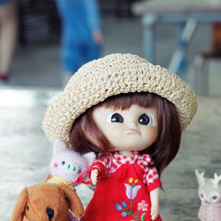 Minimuichan (MMC) sister, Neo Blythe cloth can wear size hand-woven paper cap