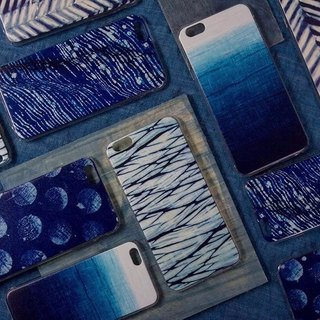 Original blue tie-dyed batik dyeing pattern phone shell Apple phone shell 6iphone6plus iphone7,7plus All Inclusive