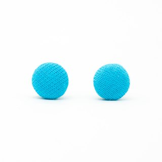 Circle dot Sky Blue Stainless Steel Earrings Earrings Woven Earrings 216
