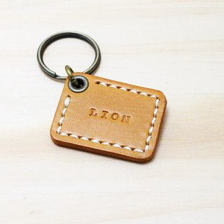 LION's Handmade Leather-- Square Key Ring