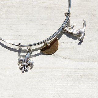 / Department of Forestry / interesting silver bracelet hand ring bracelet design sense - playing the cute cat