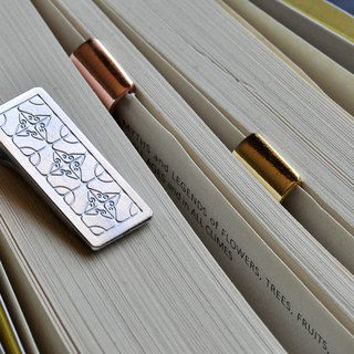 Iron window flower manual bookmarks / single piece