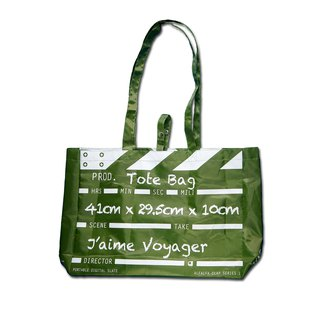 Director Clap Tote Bag - Green  (Polyester)