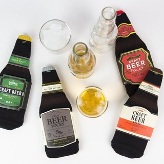 [SUKENO Japanese Design] Beer Styling Socks - Travel Series 25-27cm (Socks)