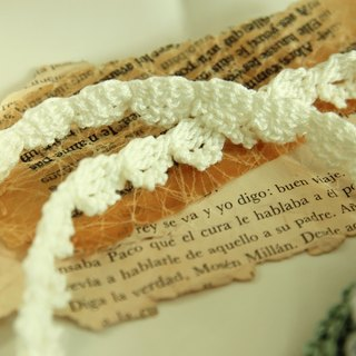 Hand-knitted lace necklace with a chain attached to extend the chain of Japanese cotton goods purchased plus elegant and moving
