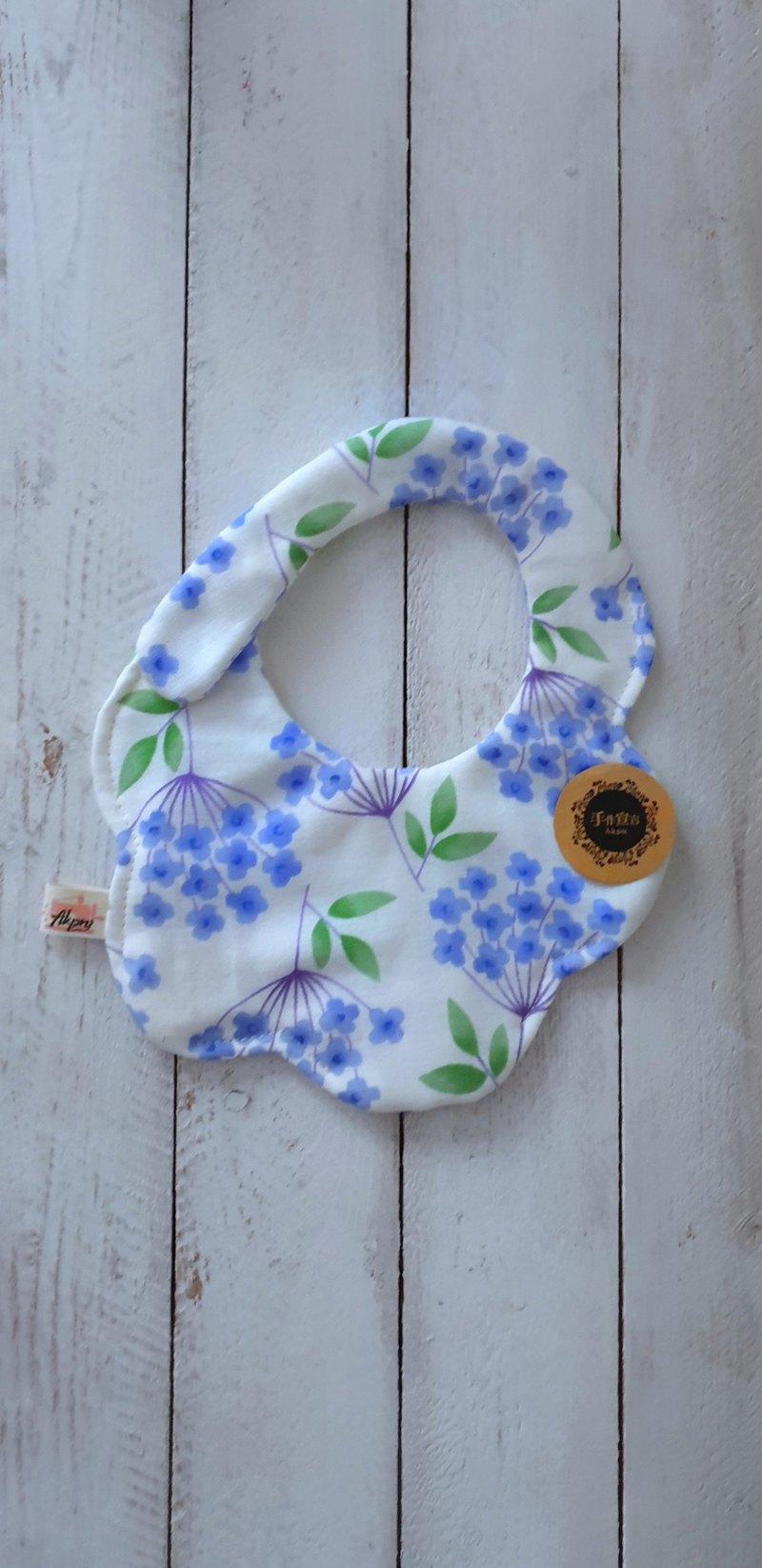 雪櫻丹-米白-八層紗100%cotton隨性圓弧造型圍兜.口水巾