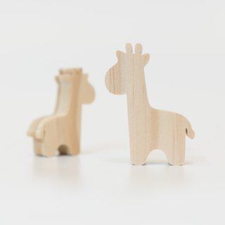 wagaZOO thick cut shape building blocks grassland series - giraffe