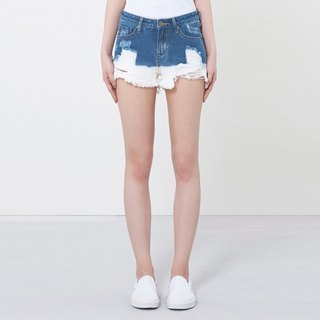 wbp-053 split cut denim shorts