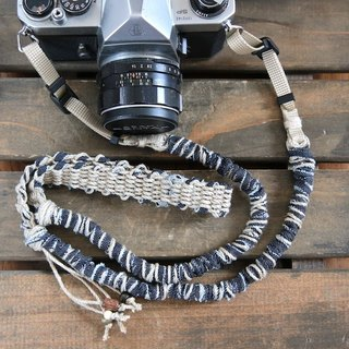 Approximately 100 - 110 cm / denim ripped cloth hemp string hemp camera strap / belt type