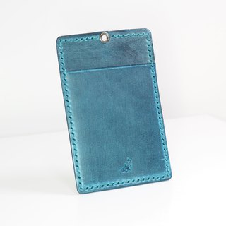 Leather ID pouch - Jean color