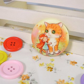 Cat Hug Badges (center)
