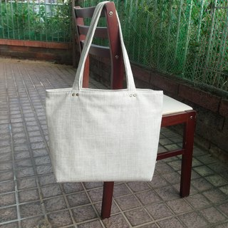 Absolute value----Classic tote bag linen milk white