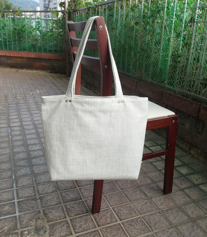 Absolute value ---- classic tote bag linen milk white