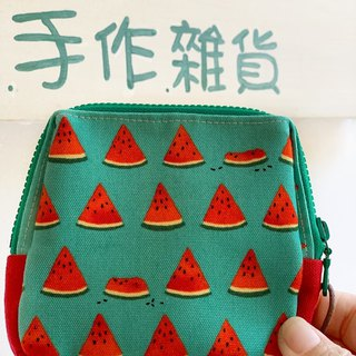 [Good day hand made] Handmade. Cool watermelon storage bag. packet. gift