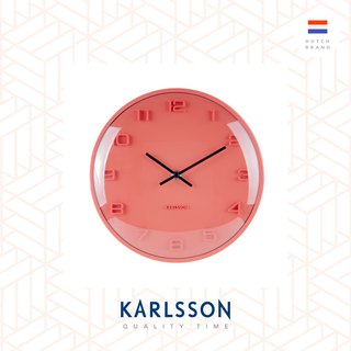 Karlsson, Wall clock Elevated dome glass, Orange