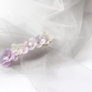 One Refinement F.MISS Violet Japan - Eternal Flower \ Dried Flower Zijian Flower / Hydrangea Dijiao Hand Hairpin / Headdress