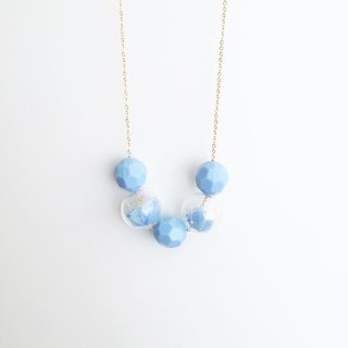 Summer Pastel sky Blue Necklace Birthday Gift Wedding Gift