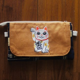 Lucky Meowo Universal Category Embroidery Side Bag (Free embroidery English name please note)