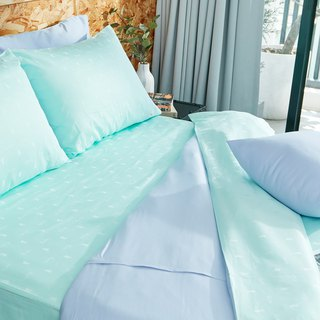 [Ultimate skin-friendly] Collagen skin beauty silk silk locust quilt cover - mint green