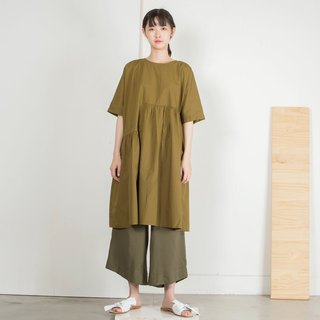 Folded irregular dress