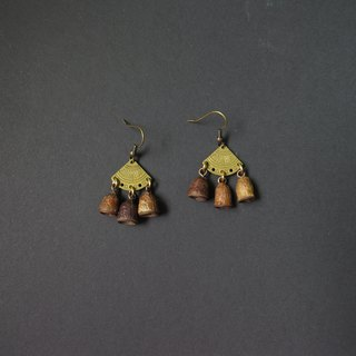 No.14 Eucalyptus small fruit vintage totem handmade earrings