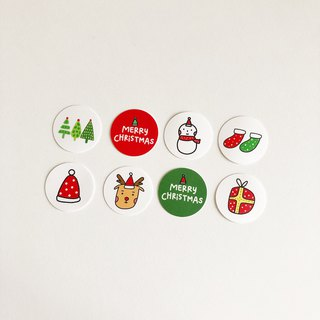 Merry Christmas Waterproof Sticker Combination Bag (8 in)