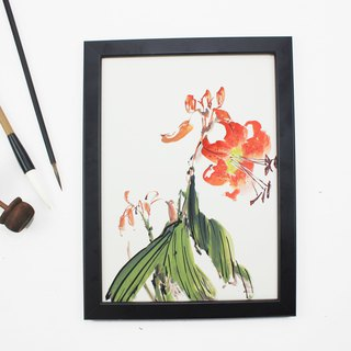 Hand-painted paintings, Shandan Chinese painting ornaments (with picture frame)