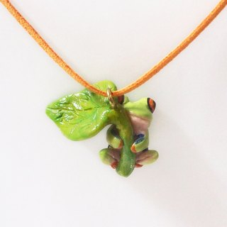 Frog handmade necklace