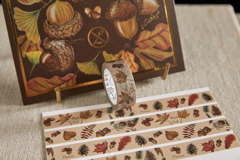 秋季松果紙膠帶