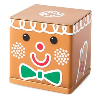 Christmas Tin Storage Box - Gingerbread Man [Hallmark-Gift Christmas Series]