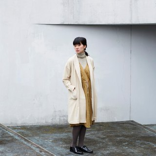 Wool gauze Gown-coat