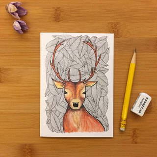 【LITTLE DIFFERENCE】PATTERN DEER GREETING CARD