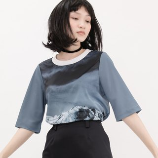 Arctic Iceberg Short Sleeve Top Arctic Iceberg Print Top