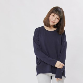 Plain French Terry Long Sleeves T-shirt