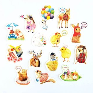 Small animal paste stickers package B paragraph