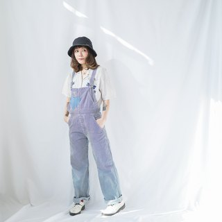 Ancient II Japanese II Blue Washed Straight Striped Denim Vintage Worker's Pants II