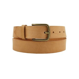 FULLGRAIN │ Italian vegetable tanned leather leather belt 3.5cm - bright copper horseshoe buckle