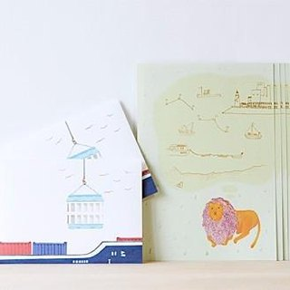 Letter writing set/Lion container