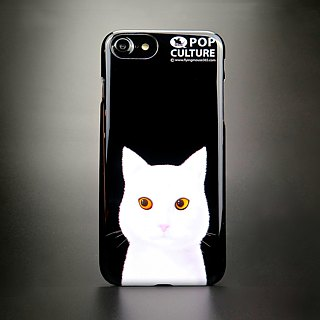 White cat phone case (iphone7/8)