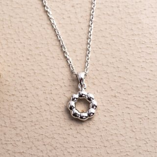 Donuts - Silver Necklace
