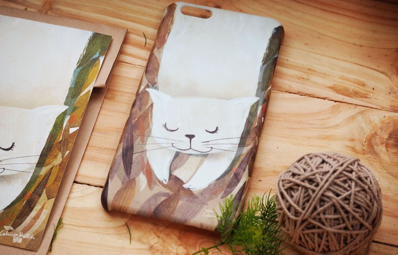 iphone case print high quality with cat rice