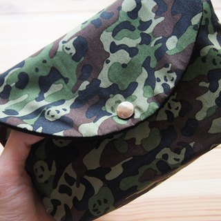 Camouflage Panda Makeup Bag Cute Pencil Case Storage Document Camera Bag
