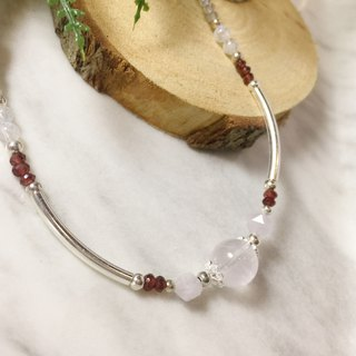 MH sterling silver natural stone custom series _ Snow White _ powder crystal