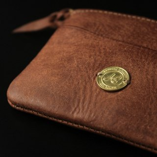 HEYOU Handmade - Coin Case Leather Coin Purse - Orange Orange