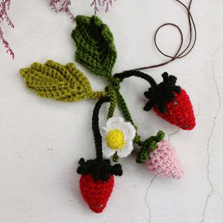 Handmade - Strawberry (Yarn) - Charm / Decoration