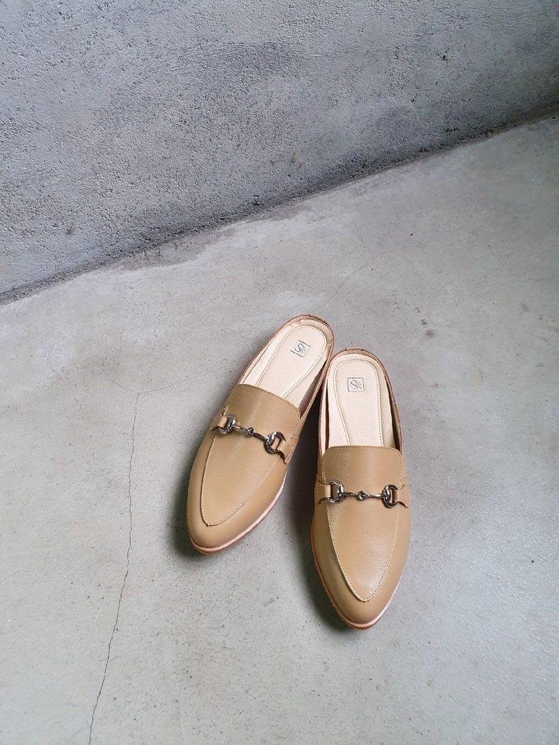 焦糖奶茶__s341質感馬銜釦穆勒鞋
