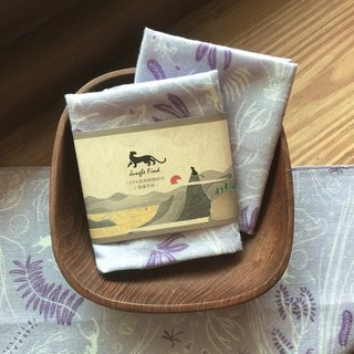 Jungle Divine Story Print - Cotton Skin Care Handkerchief - Kaohsiung Shoushan Thailand Valley