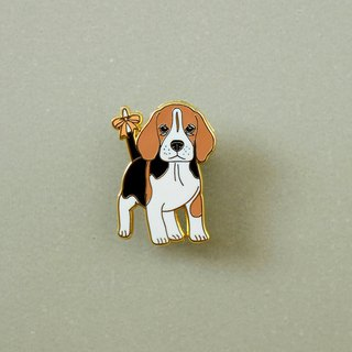 Beagle Enamel Pin, Badge, Brooch, Pin, Accessories