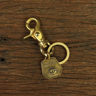 "[METALIZE] Rotary twist buckle ""TRUTH"" brass key ring"