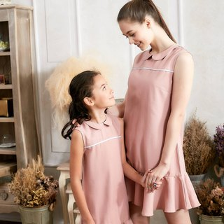 (Mommy & Me) Pink Ruffle Drop Waist Dress (set of 2)
